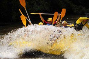white water rafting is an adventure sports in kota kinabalu