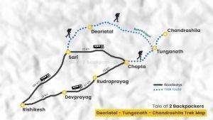 Tungnath Deoriatal Chandrashila Trek Map