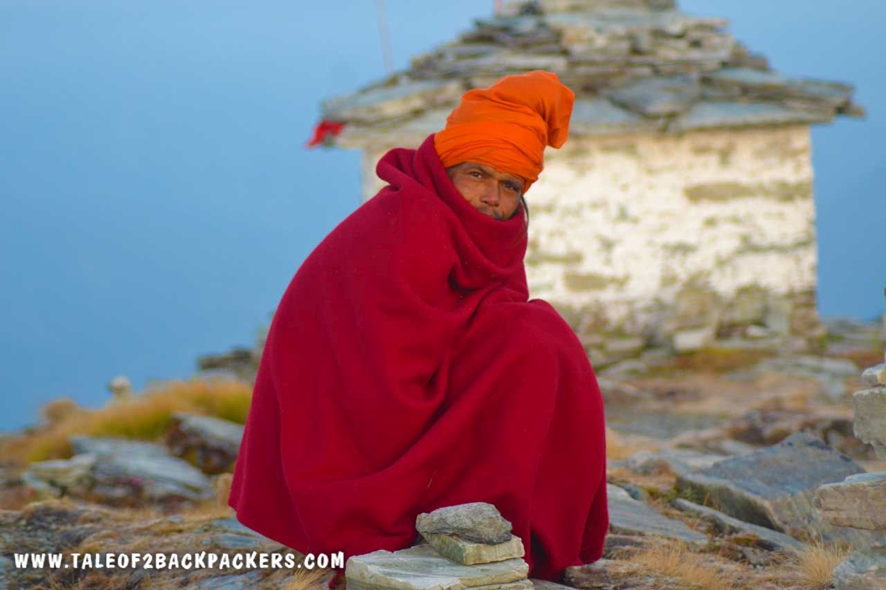 Hermit at Ganga Temple Chandrashila
