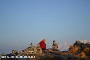 hermit at Chandrashila peak