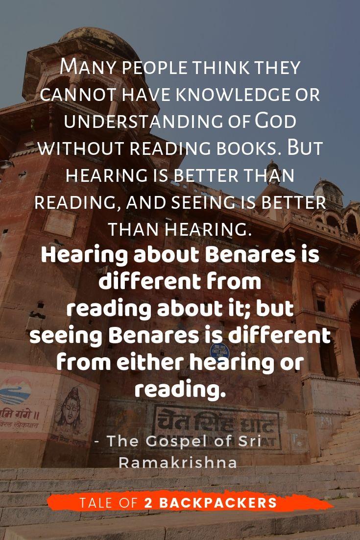 Banaras quotes by Sri Ramkrishna
