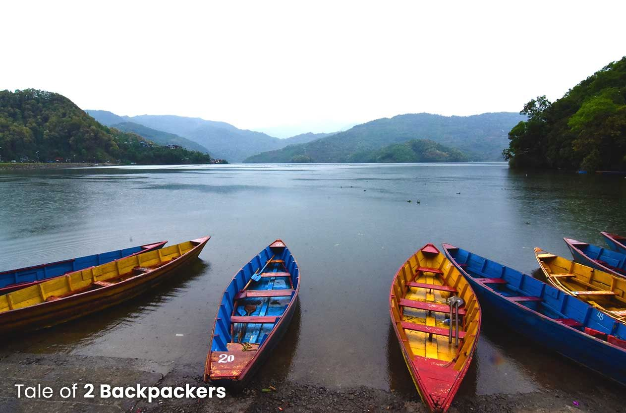 Colourful Boats at Phewa Lake _ Places to visit in Pokhara