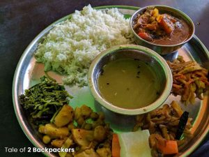 Dal Bhat platter in Nepal-what to eat in Nepal