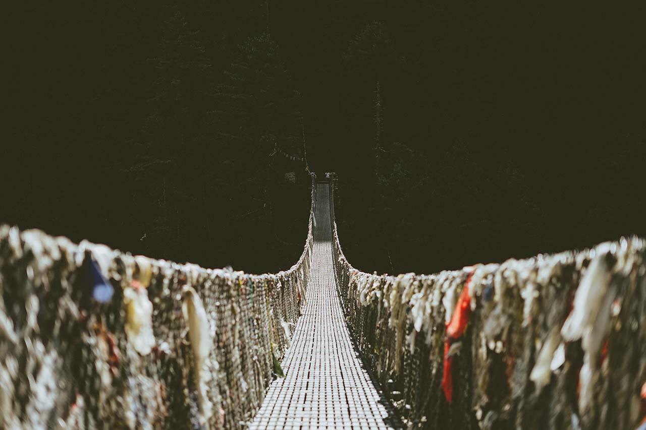 Hanging Bridge in Namche Bazar_EBC_Nepal