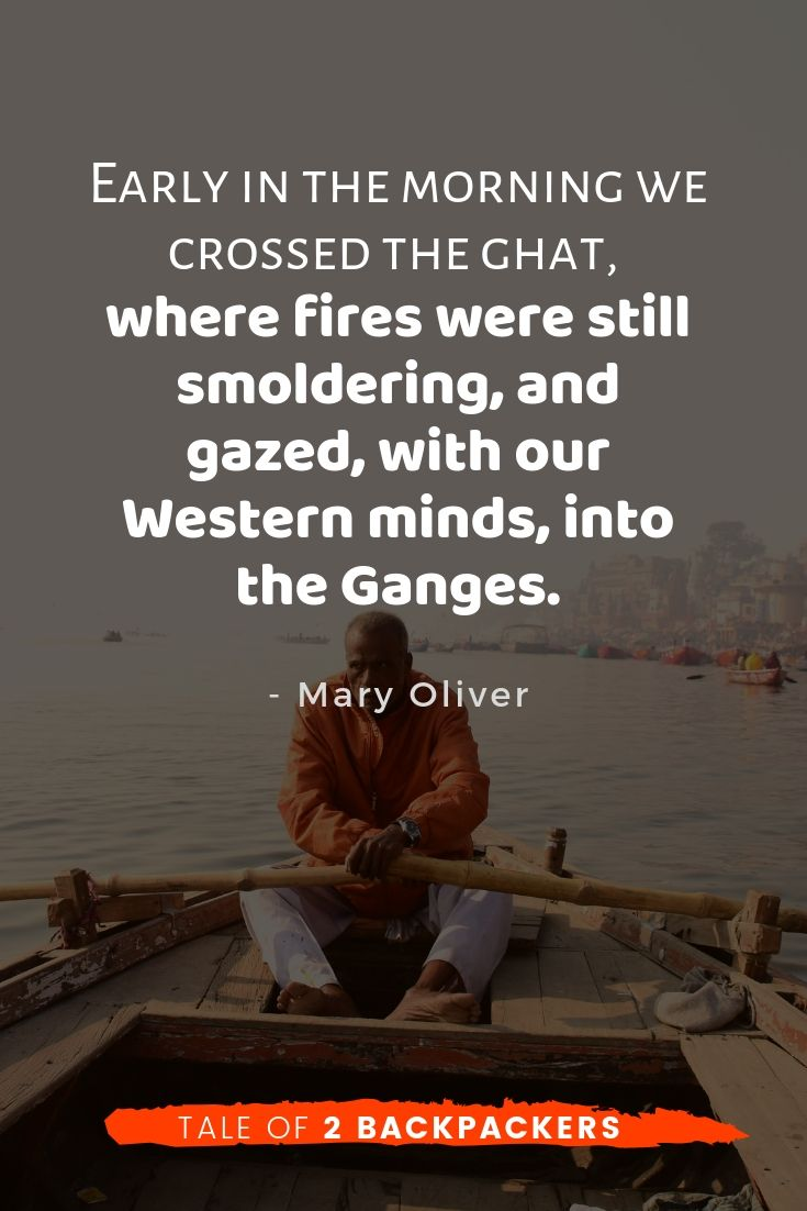 Quotes on Varanasi by Mary Oliver