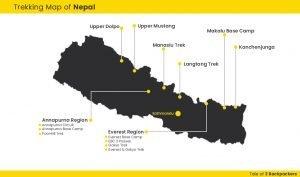 Nepal Trek map