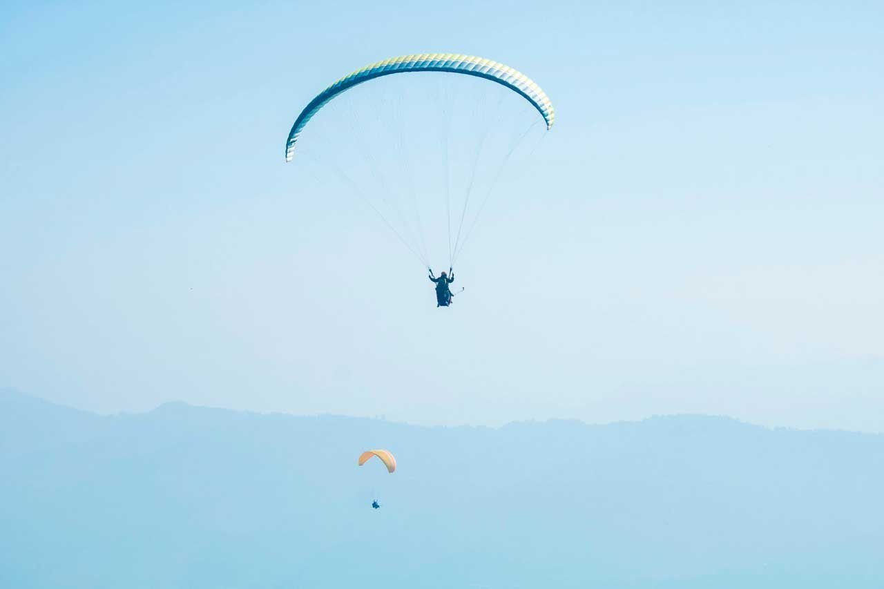 adventure in Nepal_paragliding