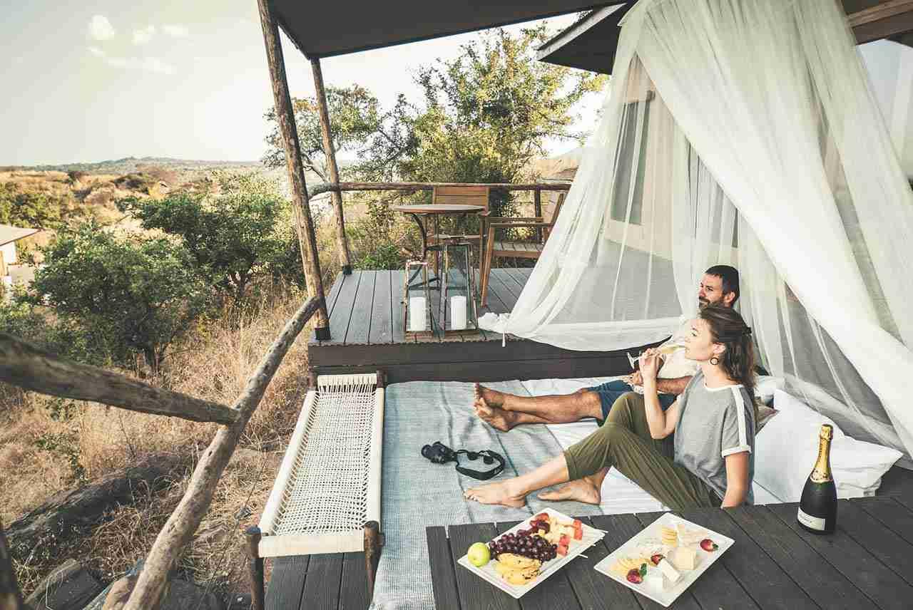 Travel couple love story - Africa Tanzania