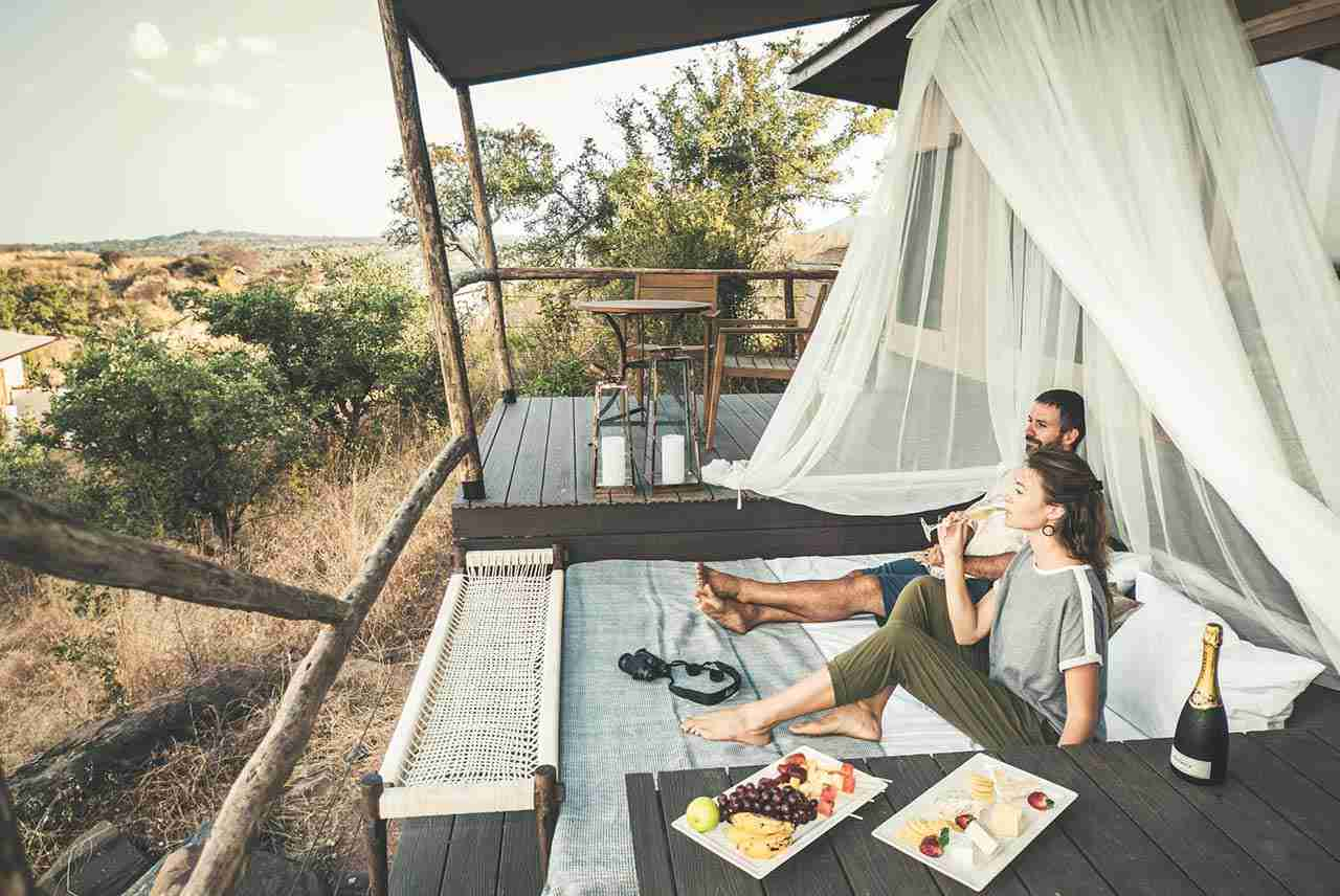 Travel couple love story - Africa Tanzania