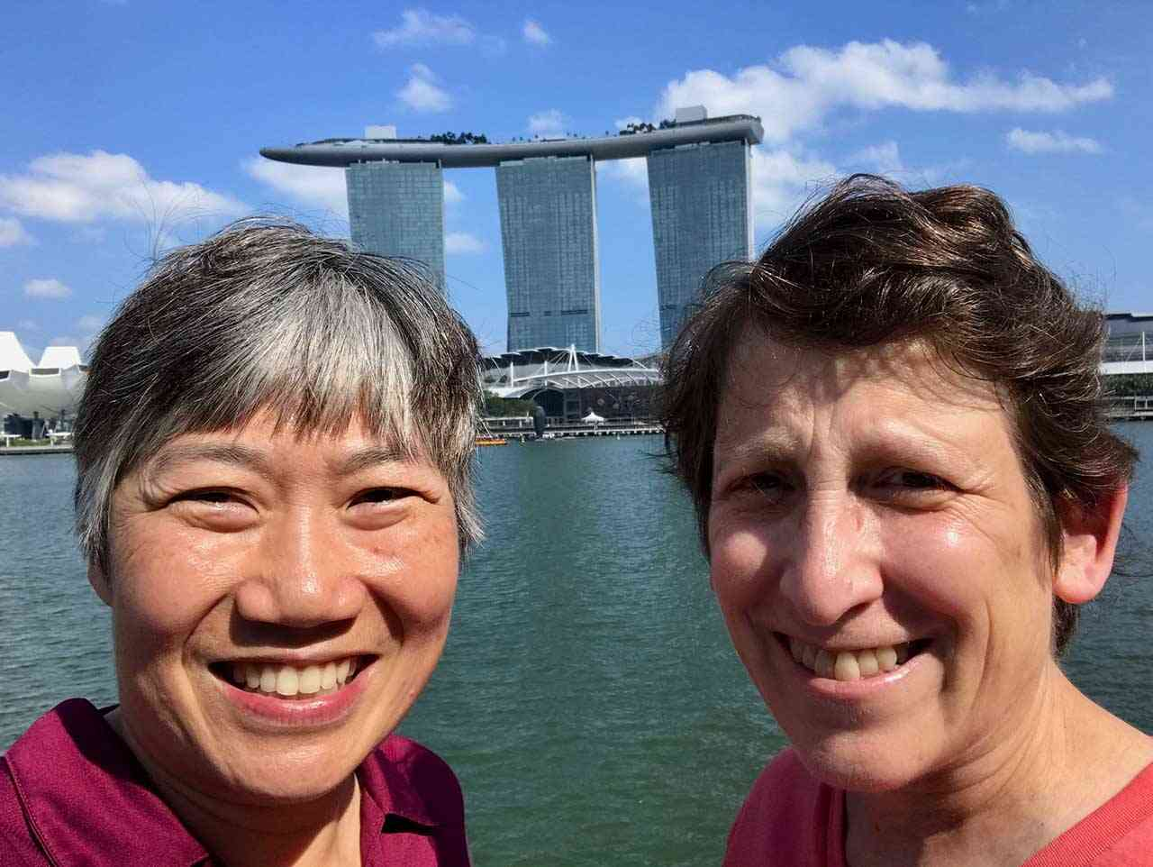 Travel Inspirations - Sue and Reggie in Singapore