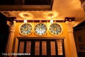 Stained glass at Barikothi, Murshidabad - Heritage hotel in India