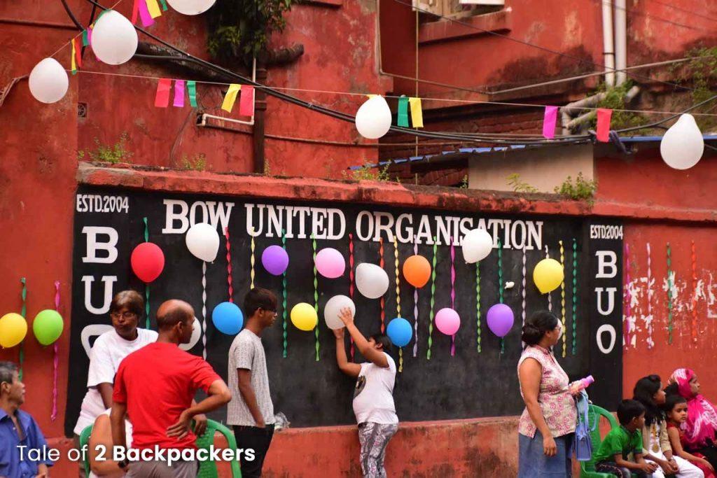 Celebration at Bow Barracks Kolkata