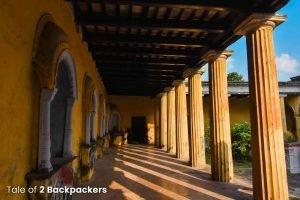 Corridors at Nasipur Rajbari