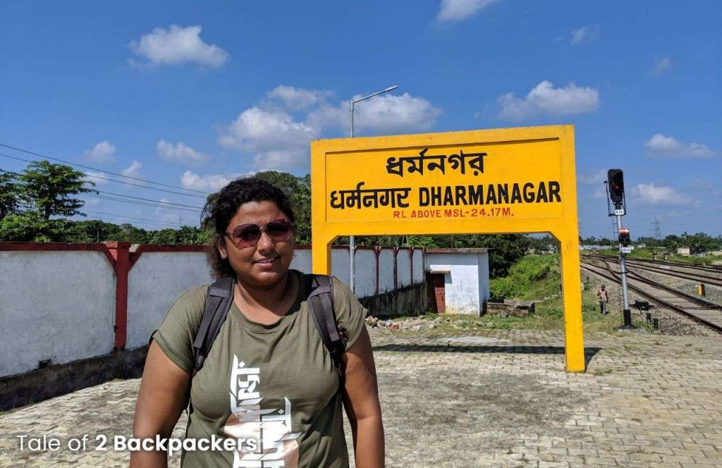 Dharmanagar Railway Station - Dharmanagar to Unakoti
