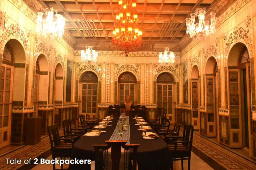 Durbar hall or the dining room of Barikothi