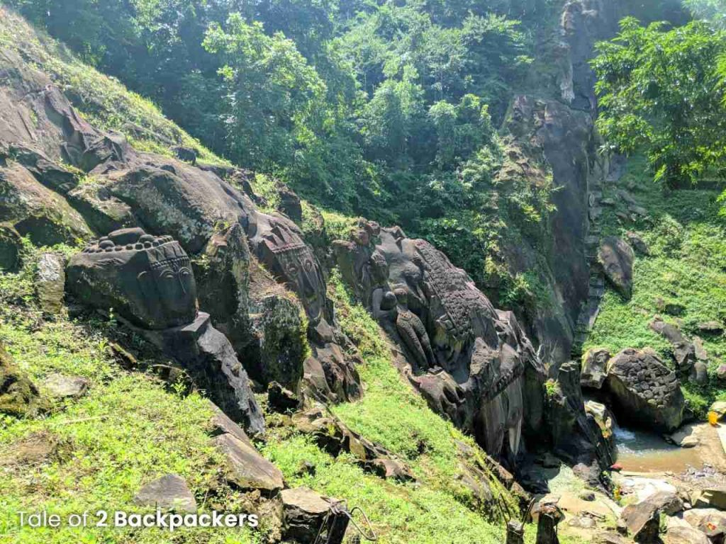 Bas relief structures and images at Unakoti, Tripura