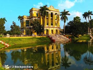 Reflection of Kathgola Palace in the pond - Murshidabad Tour guide