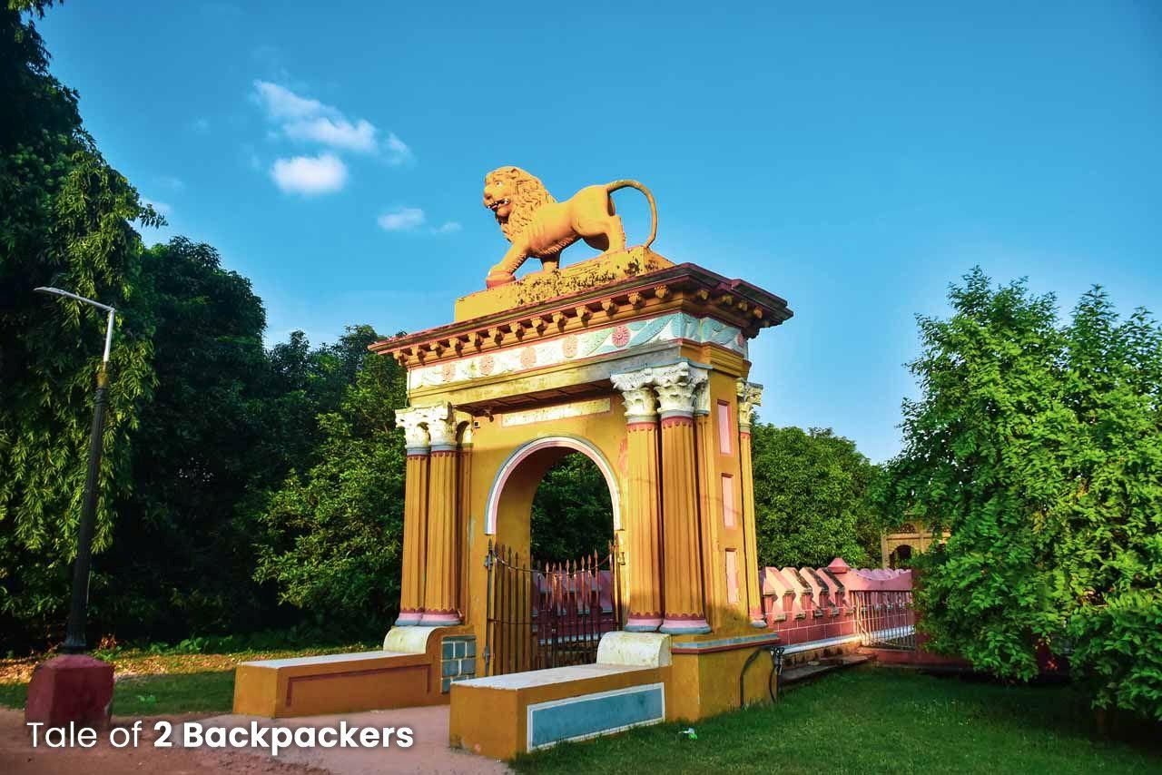 Lion statue at Kathgola gardens at Murshidabad