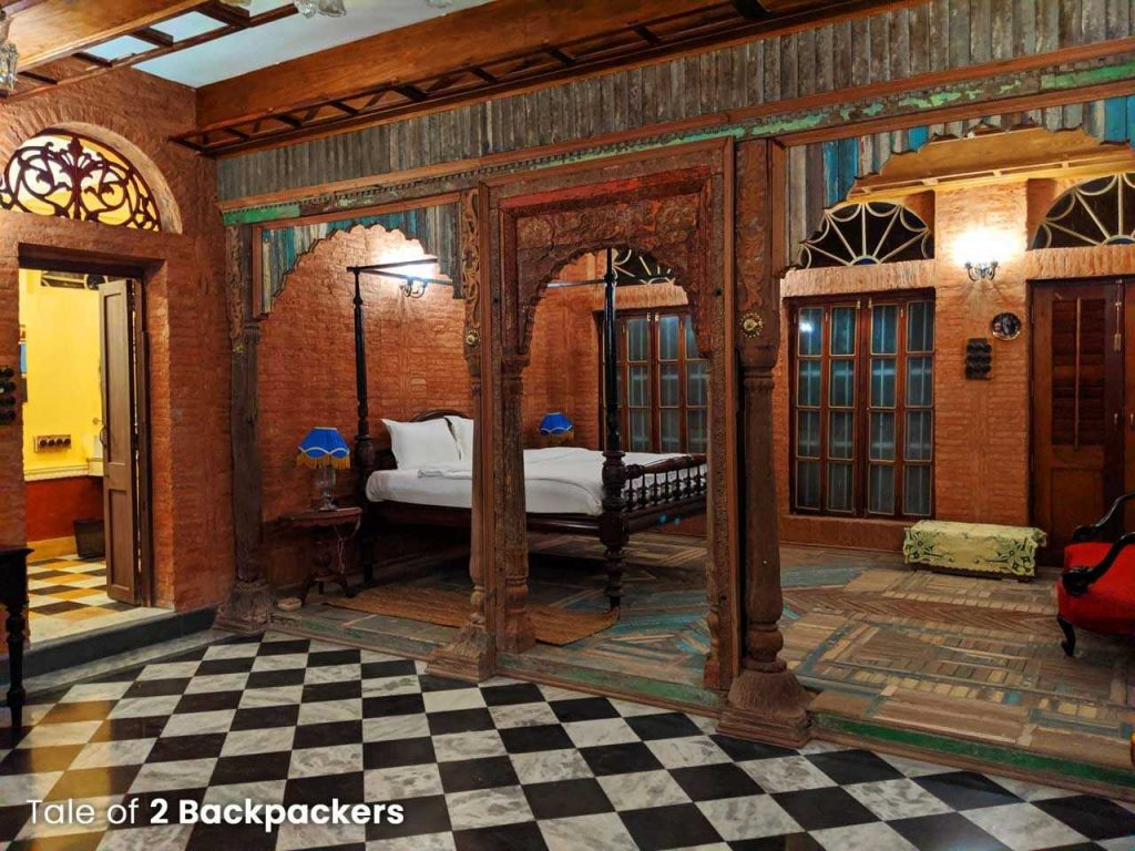 Maharaja Heritage Room at Barikothi - Heritage hotel in West Bengal