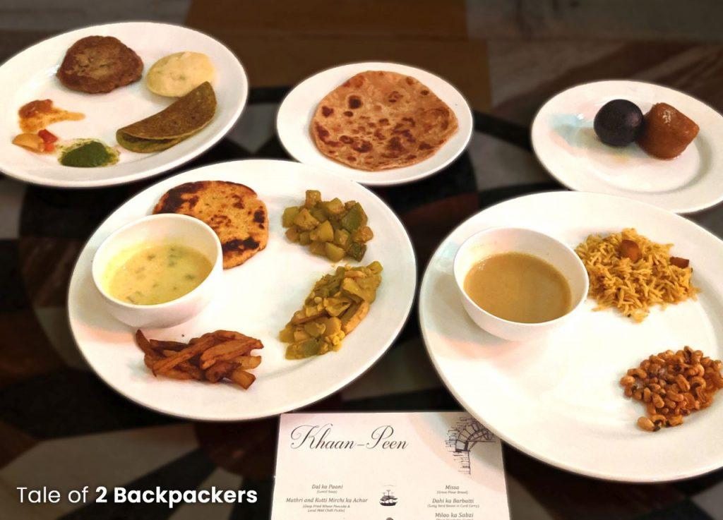 Sheherwali cuisine platter at Barikothi Murshidabad
