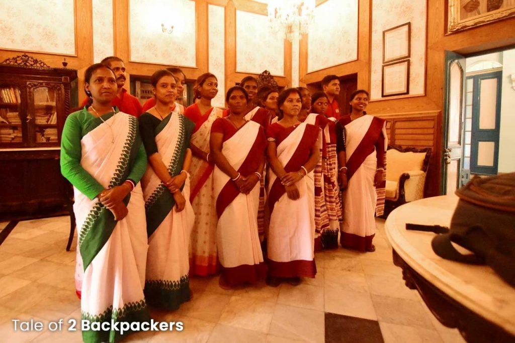 Staff members of Bari Kothi