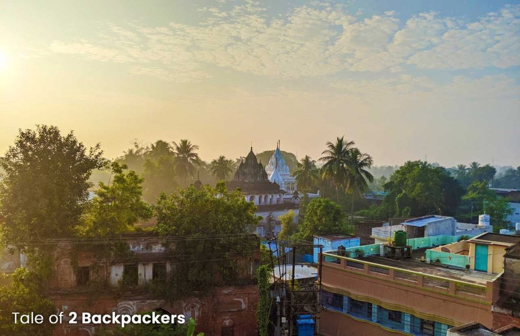 View of Azimgunj from terrace of Barikothi, Murshidabad