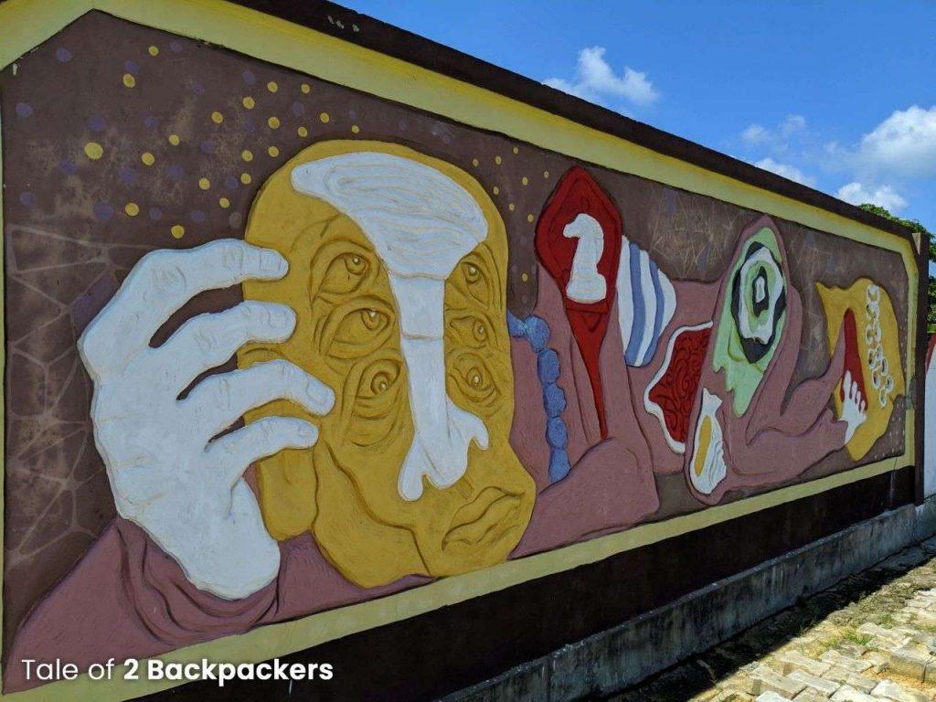 Wall art at Dharmanagar Railway Station - Dharmanagar to Unakoti