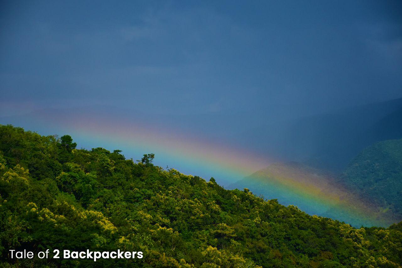 Rainbow on road