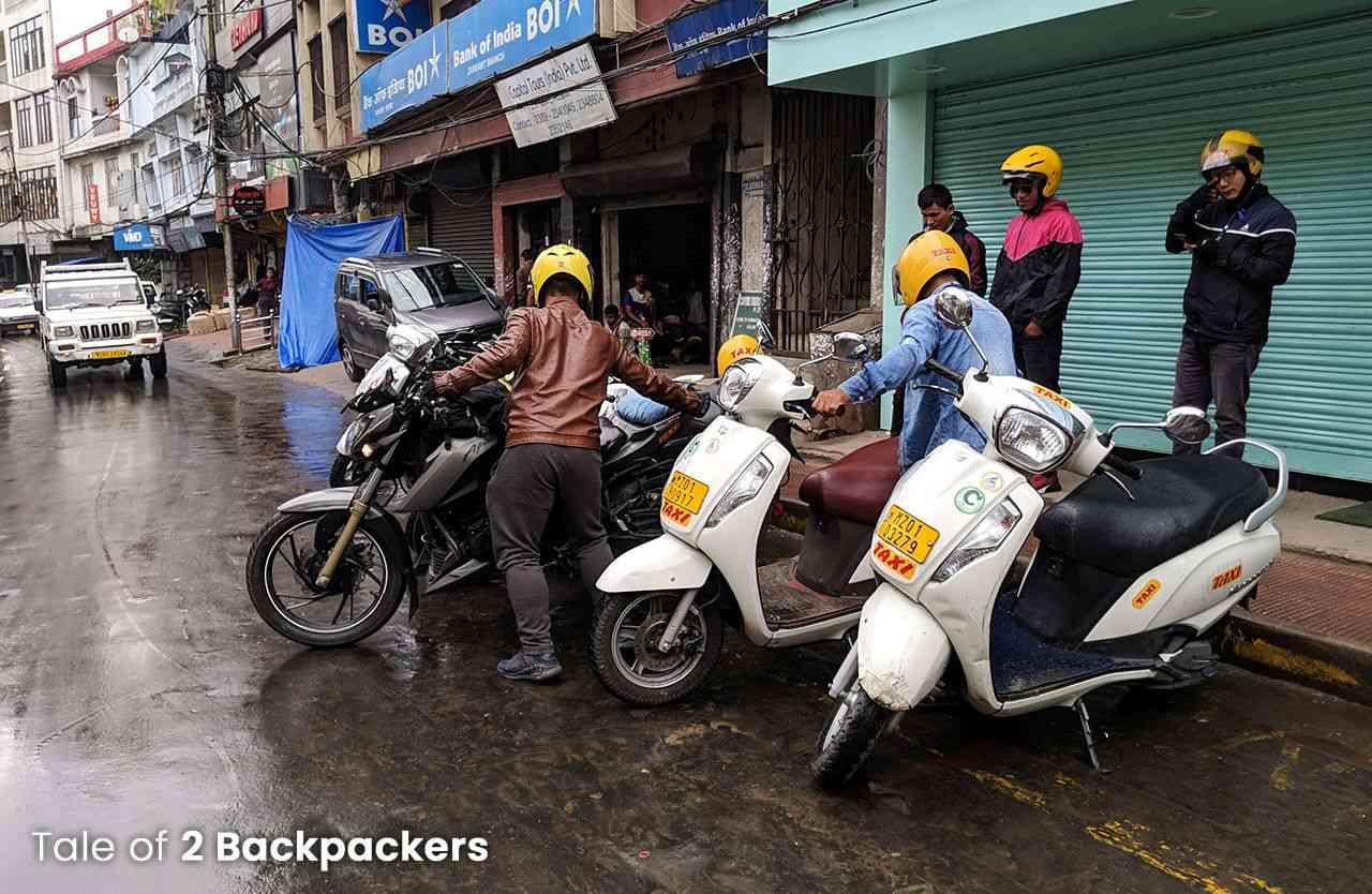 Bike taxis in Aizawl - Mizoram Tourism