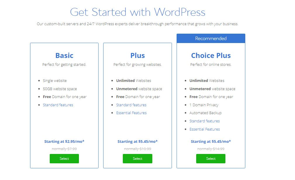 Bluehost - most affordable hosting