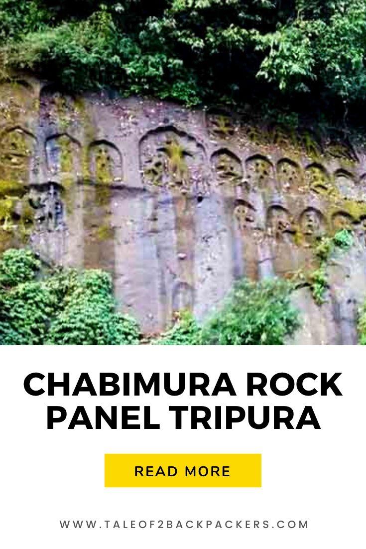 Rock panels of dancers in Chabimura, Tripura