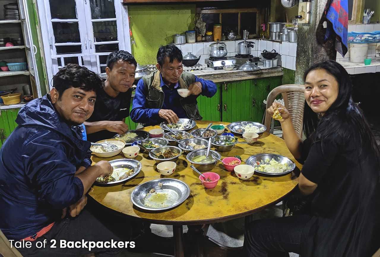 Community eating in Mizoram