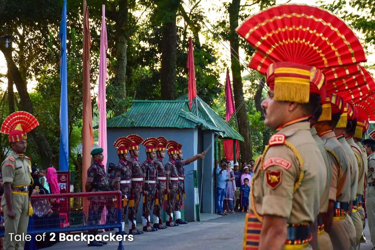Flag downing ceremoni at Akhaura ICP Tripura