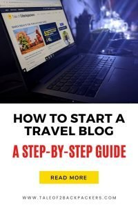 Guide to start a travel blog