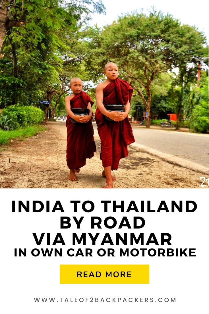 India to Thailand by Road via Myanmar