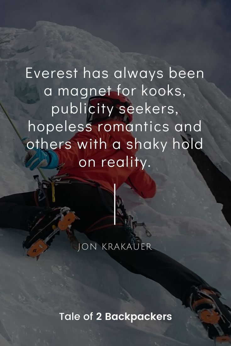 Jon Krakauer Everest quotes