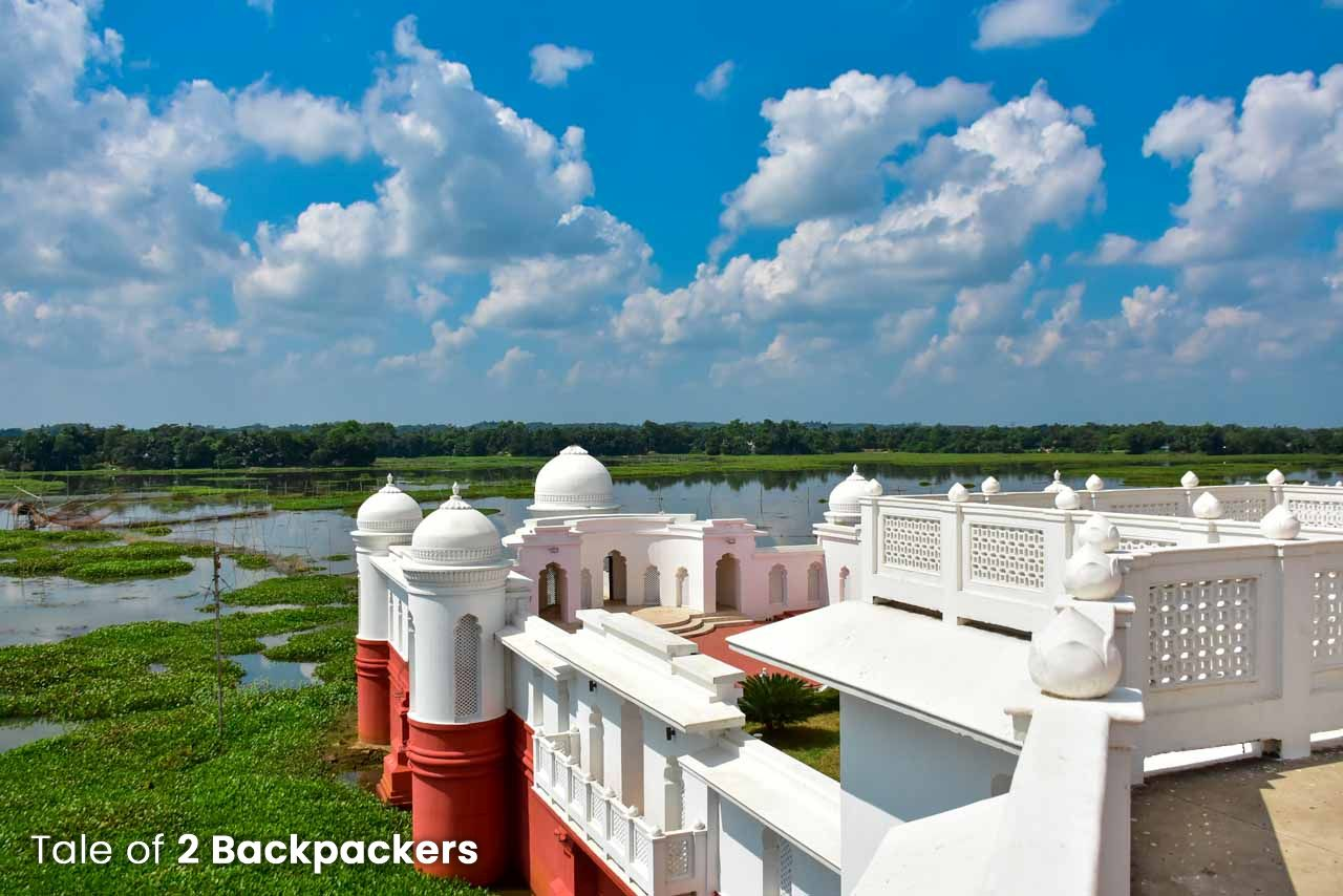 View from the terrace of Neermahal, Tripura
