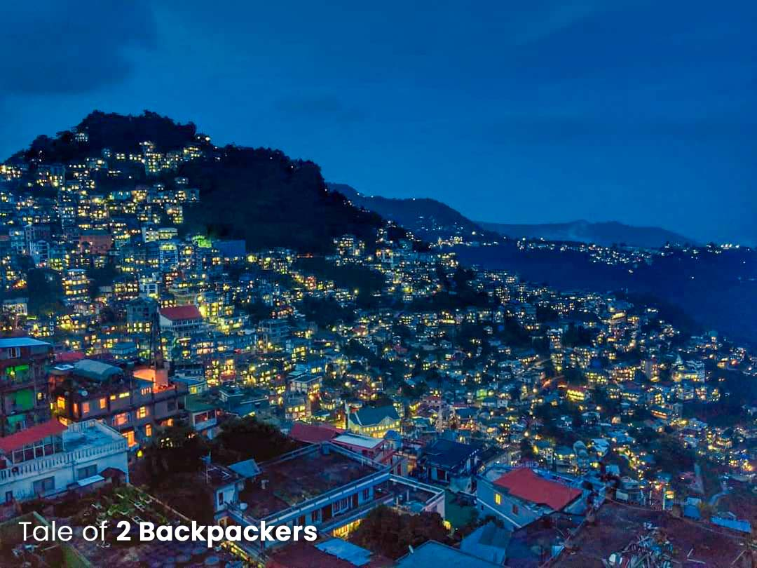 Night view of Aizawl city