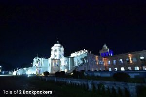 Night view of Ujjayanta Palace
