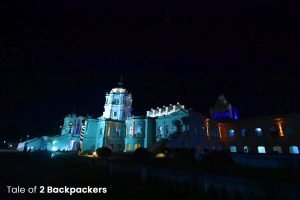 Night view of Ujjayanta Palace Agartala Tripura