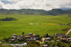 Rice fields at Champhai - view from Champhai Tourist Lodge