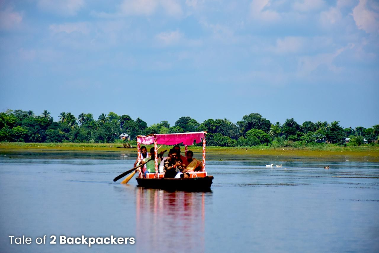 Boat ride on Rudrasagar Lake