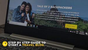 Travel blog starter Guide