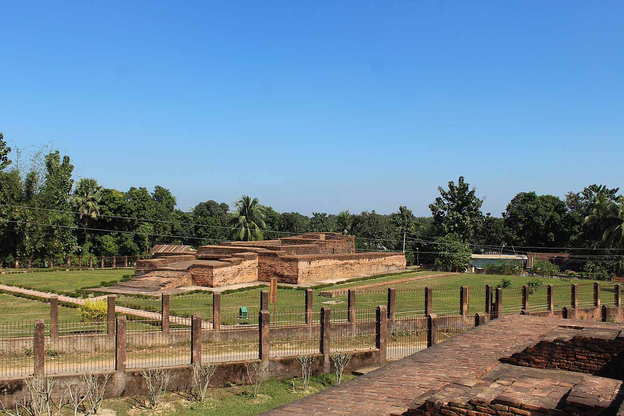 Ruins of Buddhist stupa at Boxanagar near Agartala, Tripura
