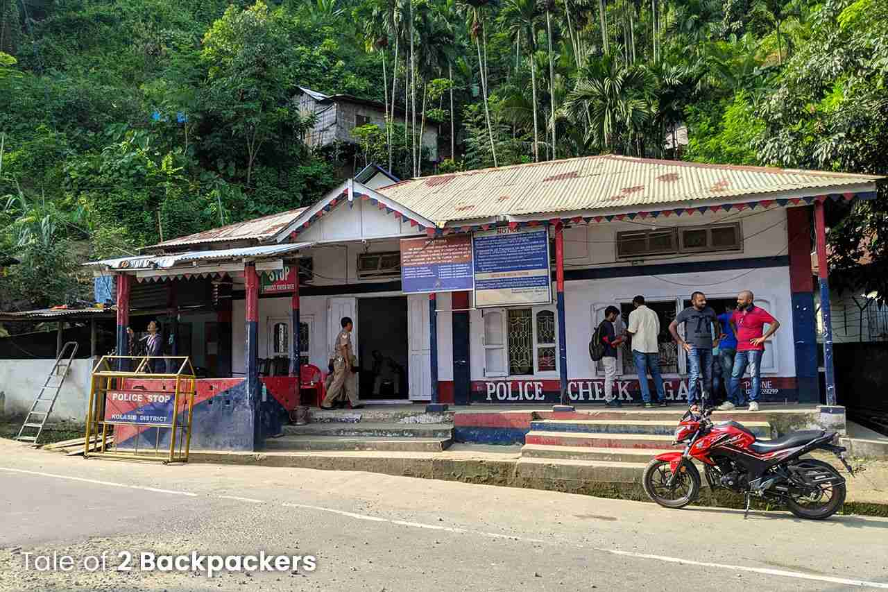 Vairengte Checkpost - you can get Mizoram ILP from here