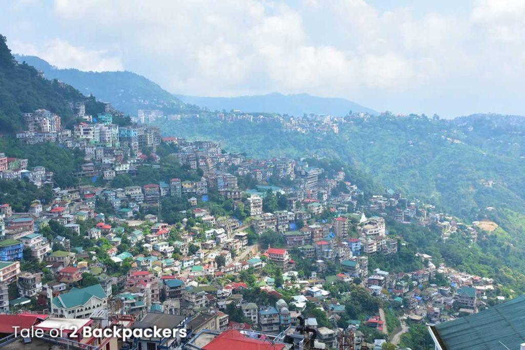 View of Aizawl city - Mizoram tourism