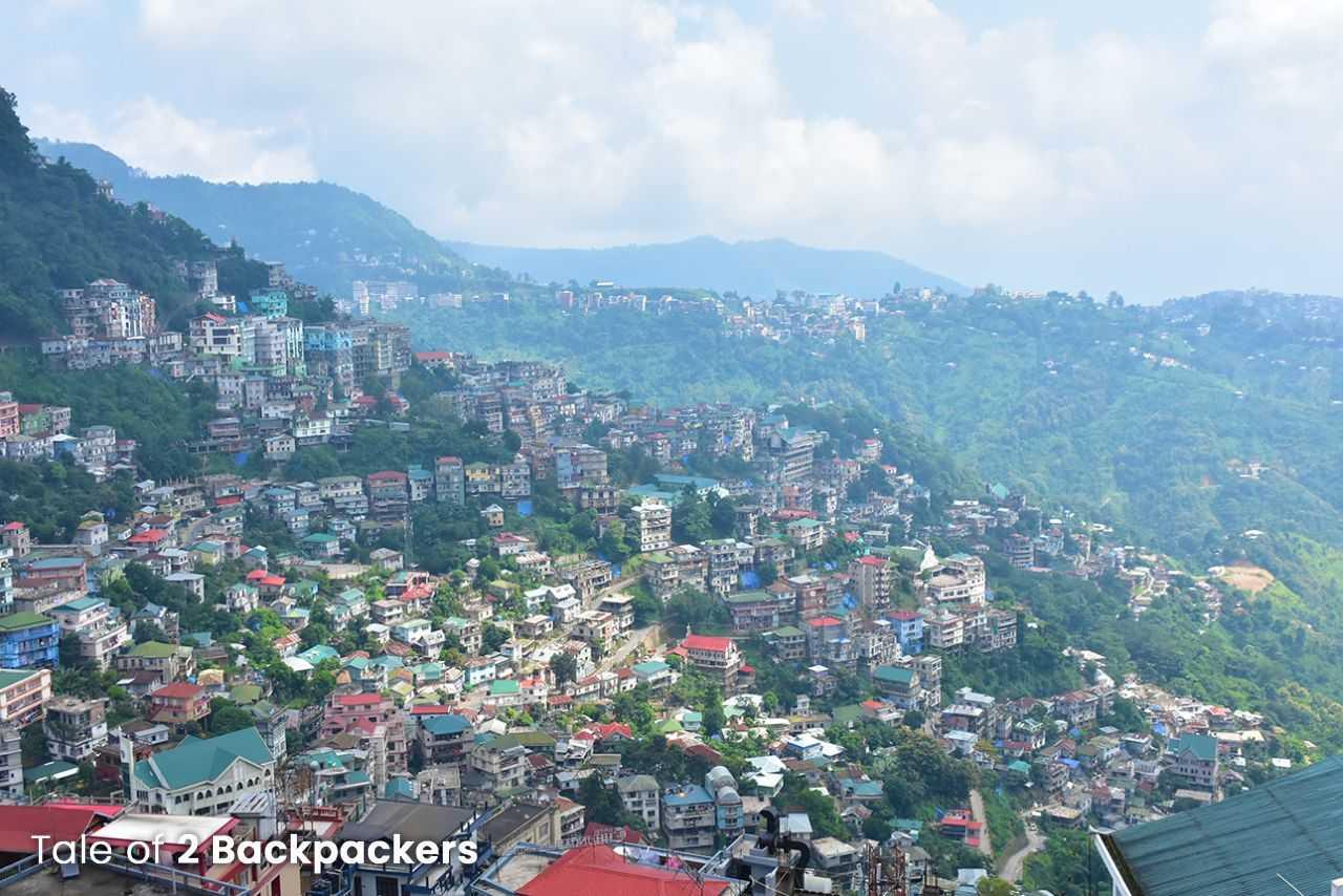 View of Aizawl city
