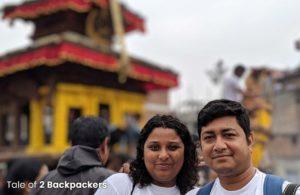 2 Backpackers in Bhaktapur Nepal