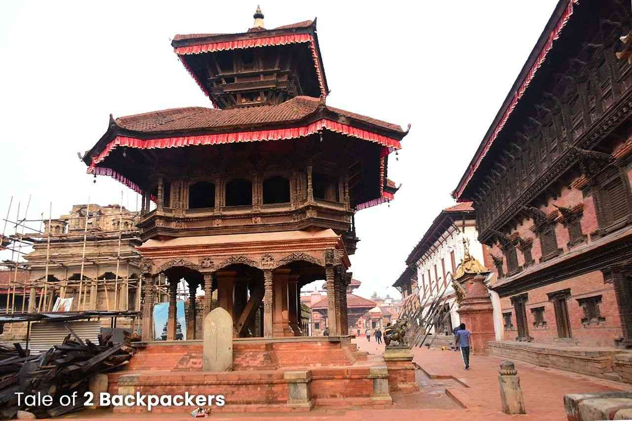 55 Windows Palace and Chysalin Mandap at Bhaktapur Durbar Square