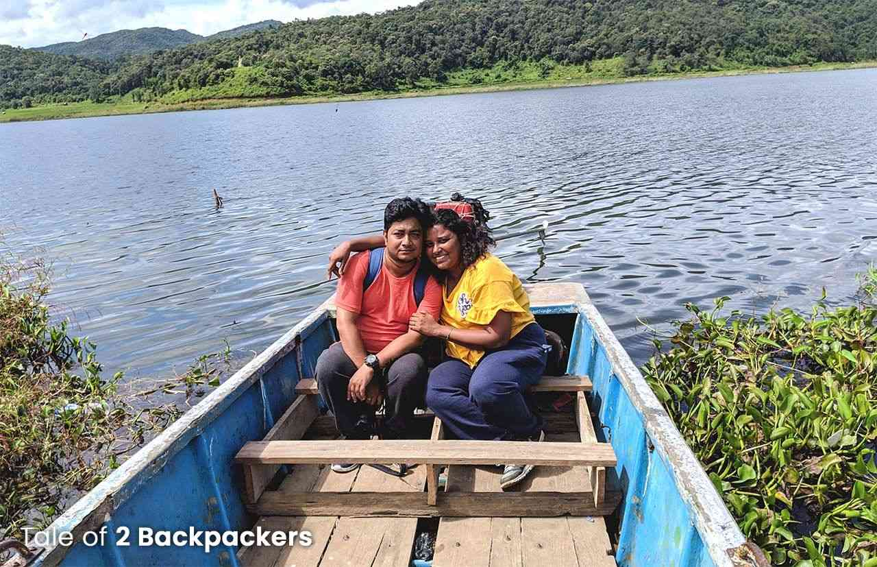 Boating at Rih Dil Lake- places to visit in Mizoram - heart-shaped lake in Myanmar